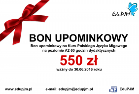 Bon upominkowy A2